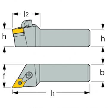 Dimensiones Porta Inserto Exterior MDJN-R 2020 K11 para Insertos DNMG