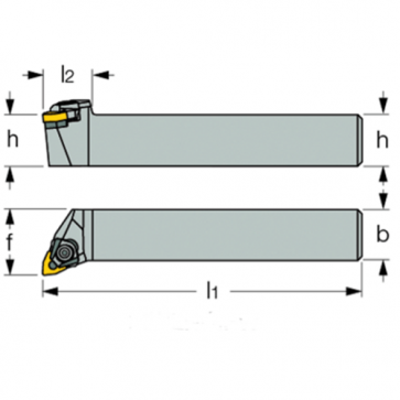 Dimensiones MWLN-L-12-3C - Portainserto torneado exterior