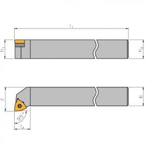 Dimensiones Portaherramientas SWLC con Sistema de Sujeción por Tornillo
