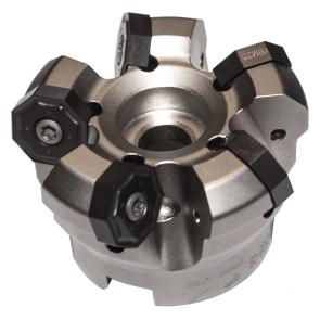 Corona portainsertos FMA07-080-B27-ON06-07, Ø de piloto 27mm, Ø de corte 80-92mm para 7 insertos