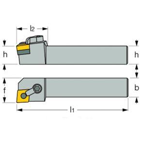 Dimensiones Portaherramientas MCLN con Sistema de Sujeción por Brida y Corredera