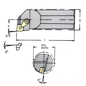 S25R-MCLN-L-12 - Portainserto torneado interior