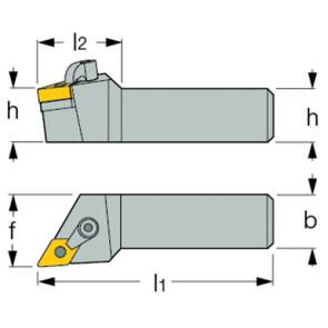 Ángulo de Ataque Porta Inserto Exterior MDJN-L 2525 M15