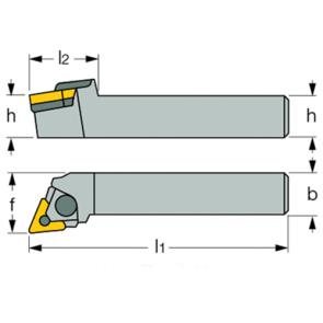Dimensiones Portaherramientas MTJN con Sistema de Sujeción por Brida y Corredera