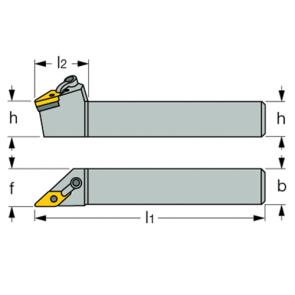 Dimensiones Porta Inserto Exterior MVJNR 12-3C