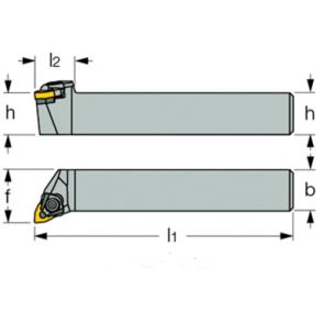 Dimensiones MWLN-L-16-4D - Portainserto torneado exterior