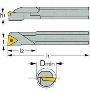 Dimensiones Porta Inserto Interior S16R STFC-R 11