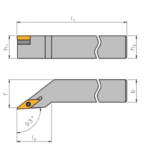 SVJC-R-1616-H11 - Portainserto torneado exterior