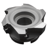 Corona portainsertos XMR01-080-A27-SD12-05 para maquinado de alta velocidad, Ø de piloto 27mm Ø de corte 80mm para 5 insertos